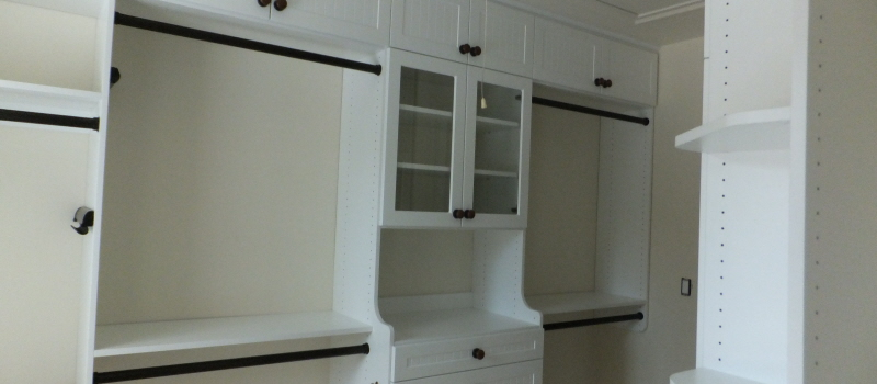 White walk-in closet